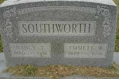 VICKERS SOUTHWORTH, NANCY TENNESSEE - Lincoln County, Oklahoma | NANCY TENNESSEE VICKERS SOUTHWORTH - Oklahoma Gravestone Photos