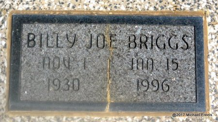 BRIGGS, BILLY JOE - Mayes County, Oklahoma | BILLY JOE BRIGGS - Oklahoma Gravestone Photos