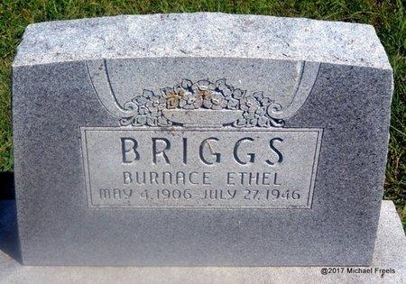 BRIGGS, BURNACE ETHEL - Mayes County, Oklahoma | BURNACE ETHEL BRIGGS - Oklahoma Gravestone Photos