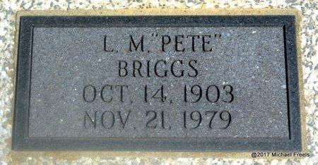 "BRIGGS, L.M. ""PETE"" - Mayes County, Oklahoma | L.M. ""PETE"" BRIGGS - Oklahoma Gravestone Photos"