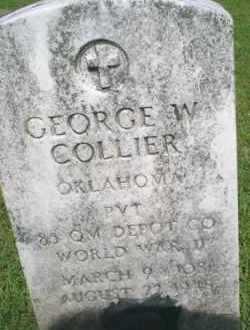 COLLIER, GEORGE W - Mayes County, Oklahoma | GEORGE W COLLIER - Oklahoma Gravestone Photos