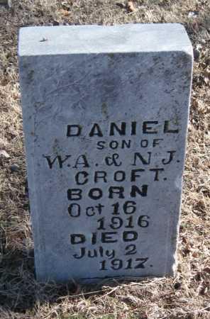 CROFT, DANIEL - Mayes County, Oklahoma | DANIEL CROFT - Oklahoma Gravestone Photos