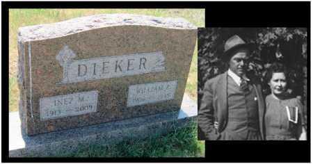 DIEKER, INEZ MAUDE - Mayes County, Oklahoma | INEZ MAUDE DIEKER - Oklahoma Gravestone Photos