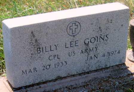 GOINS (VETERAN), BILLY LEE - Mayes County, Oklahoma | BILLY LEE GOINS (VETERAN) - Oklahoma Gravestone Photos