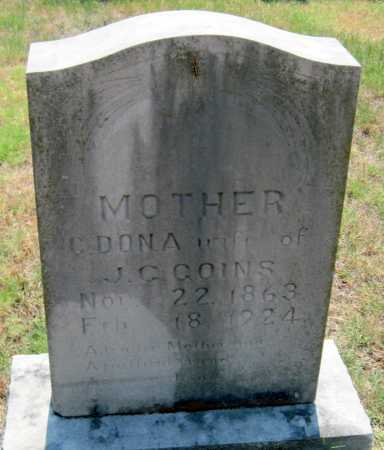 GOINS, C. DONA - Mayes County, Oklahoma | C. DONA GOINS - Oklahoma Gravestone Photos