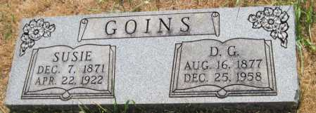 "GOINS, DOCTOR GARNER ""D.G."" - Mayes County, Oklahoma 