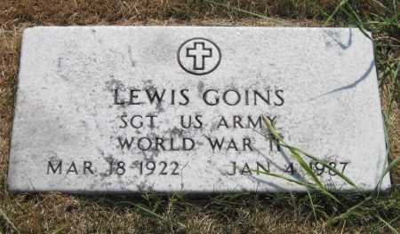 GOINS (VETERAN WWII), LEWIS - Mayes County, Oklahoma | LEWIS GOINS (VETERAN WWII) - Oklahoma Gravestone Photos