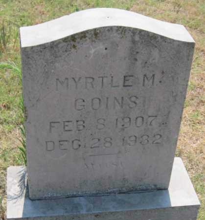 GOINS, MYRTLE M - Mayes County, Oklahoma | MYRTLE M GOINS - Oklahoma Gravestone Photos