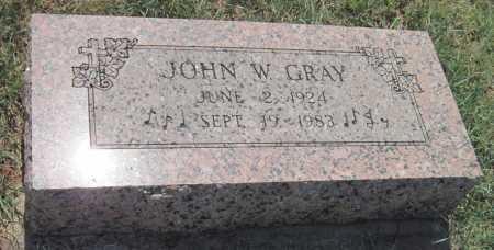 GRAY, JOHN W - Mayes County, Oklahoma | JOHN W GRAY - Oklahoma Gravestone Photos