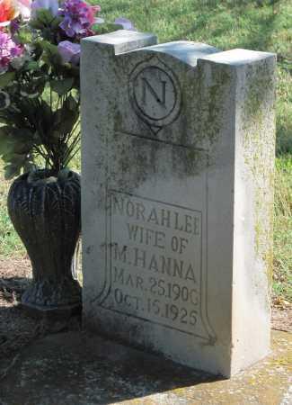 HANNA, NORAH LEE - Mayes County, Oklahoma | NORAH LEE HANNA - Oklahoma Gravestone Photos