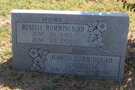 HUMMINBIRD VANADESTINE, JUANITA - Mayes County, Oklahoma | JUANITA HUMMINBIRD VANADESTINE - Oklahoma Gravestone Photos