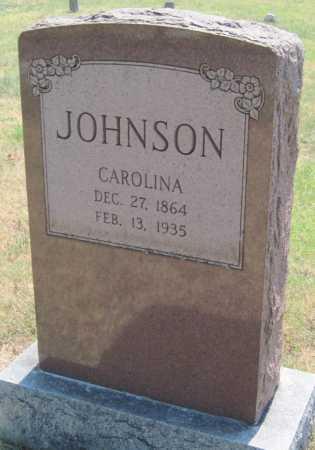 JOHNSON, CAROLINA - Mayes County, Oklahoma | CAROLINA JOHNSON - Oklahoma Gravestone Photos