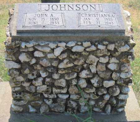 HODGES JOHNSON, CHRISTIANNA - Mayes County, Oklahoma | CHRISTIANNA HODGES JOHNSON - Oklahoma Gravestone Photos