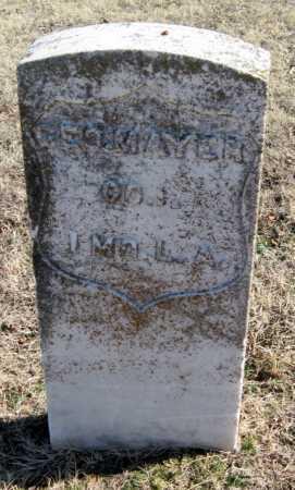 MAYER (VETERAN UNION), GEORGE - Mayes County, Oklahoma | GEORGE MAYER (VETERAN UNION) - Oklahoma Gravestone Photos