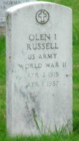 RUSSELL (VETERAN WWII, OLEN I - Mayes County, Oklahoma | OLEN I RUSSELL (VETERAN WWII - Oklahoma Gravestone Photos