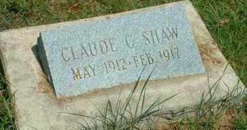 SHAW, CLAUDE C - Mayes County, Oklahoma | CLAUDE C SHAW - Oklahoma Gravestone Photos