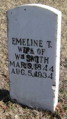 SMITH, EMELINE T. - Mayes County, Oklahoma | EMELINE T. SMITH - Oklahoma Gravestone Photos