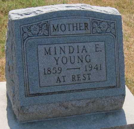 SCANTIN YOUNG, MINDIA E - Mayes County, Oklahoma | MINDIA E SCANTIN YOUNG - Oklahoma Gravestone Photos