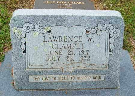 CLAMPET, LAWRENCE W - McCurtain County, Oklahoma   LAWRENCE W CLAMPET - Oklahoma Gravestone Photos