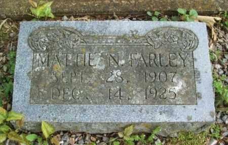 FARLEY, MATTIE N - McCurtain County, Oklahoma | MATTIE N FARLEY - Oklahoma Gravestone Photos