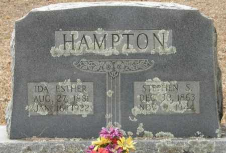 HAMPTON, IDA ESTHER - McCurtain County, Oklahoma | IDA ESTHER HAMPTON - Oklahoma Gravestone Photos