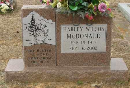 MCDONALD, HARLEY WILSON - McCurtain County, Oklahoma   HARLEY WILSON MCDONALD - Oklahoma Gravestone Photos