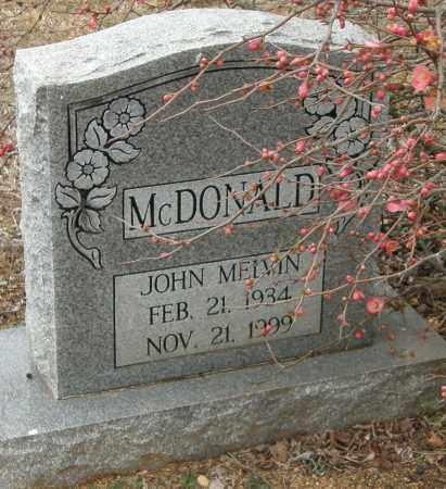 MCDONALD, JOHN MELVIN - McCurtain County, Oklahoma   JOHN MELVIN MCDONALD - Oklahoma Gravestone Photos