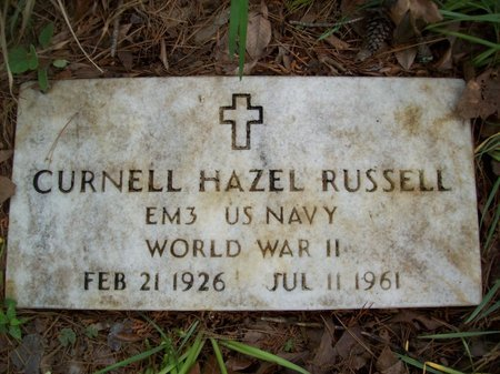 RUSSELL {VETERAN - WWII}, CURNELL HAZEL - McCurtain County, Oklahoma | CURNELL HAZEL RUSSELL {VETERAN - WWII} - Oklahoma Gravestone Photos