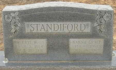 STANDIFORD, NANNIE GRACE - McCurtain County, Oklahoma | NANNIE GRACE STANDIFORD - Oklahoma Gravestone Photos