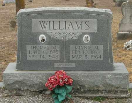 WILLIAMS, THOMAS M. - McCurtain County, Oklahoma | THOMAS M. WILLIAMS - Oklahoma Gravestone Photos