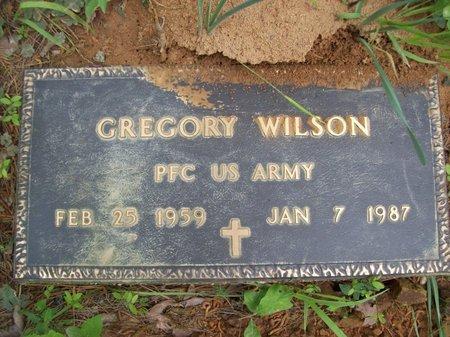 WILSON {VETERAN}, GREGORY - McCurtain County, Oklahoma | GREGORY WILSON {VETERAN} - Oklahoma Gravestone Photos