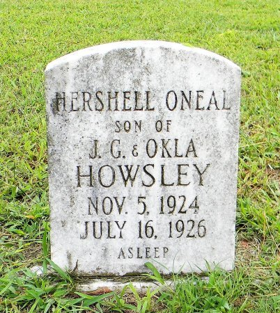 HOWSLEY, HERSHELL ONEAL - McIntosh County, Oklahoma | HERSHELL ONEAL HOWSLEY - Oklahoma Gravestone Photos