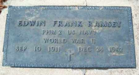 RAMSEY (VETERAN WWII), EDWIN FRANK - Murray County, Oklahoma | EDWIN FRANK RAMSEY (VETERAN WWII) - Oklahoma Gravestone Photos
