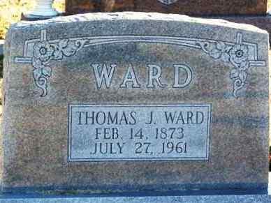 WARD, THOMAS J - Murray County, Oklahoma | THOMAS J WARD - Oklahoma Gravestone Photos