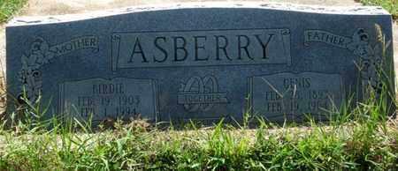 ASBERRY, BIRDIE - Muskogee County, Oklahoma | BIRDIE ASBERRY - Oklahoma Gravestone Photos