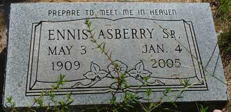 ASBERRY SR., ENNIS - Muskogee County, Oklahoma | ENNIS ASBERRY SR. - Oklahoma Gravestone Photos