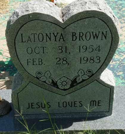 BROWN, LATONYA - Muskogee County, Oklahoma | LATONYA BROWN - Oklahoma Gravestone Photos