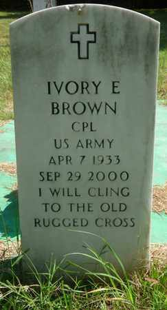 BROWN (VETERAN), IVORY E - Muskogee County, Oklahoma | IVORY E BROWN (VETERAN) - Oklahoma Gravestone Photos