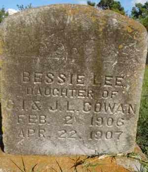COWAN, BESSIE LEE - Muskogee County, Oklahoma   BESSIE LEE COWAN - Oklahoma Gravestone Photos