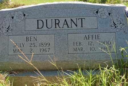 DURANT, AFFIE - Muskogee County, Oklahoma | AFFIE DURANT - Oklahoma Gravestone Photos