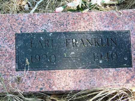 FRANKLIN, EARL - Muskogee County, Oklahoma | EARL FRANKLIN - Oklahoma Gravestone Photos