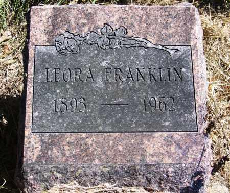 FRANKLIN, LEORA - Muskogee County, Oklahoma | LEORA FRANKLIN - Oklahoma Gravestone Photos