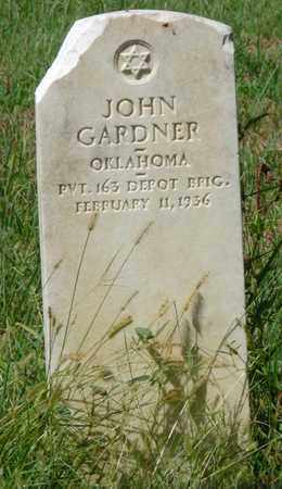 GARDNER (VETERAN), JOHN - Muskogee County, Oklahoma | JOHN GARDNER (VETERAN) - Oklahoma Gravestone Photos