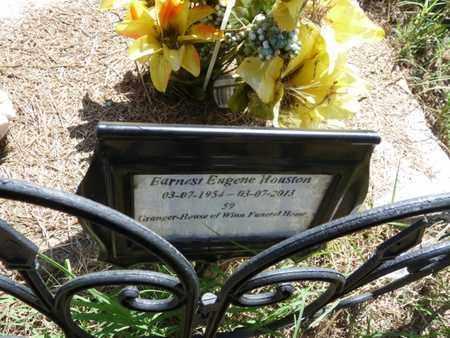 HOUSTON, EARNEST EUGENE - Muskogee County, Oklahoma   EARNEST EUGENE HOUSTON - Oklahoma Gravestone Photos