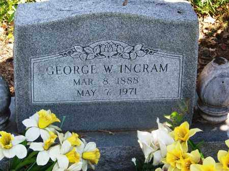 INGRAM, GEORGE W - Muskogee County, Oklahoma | GEORGE W INGRAM - Oklahoma Gravestone Photos