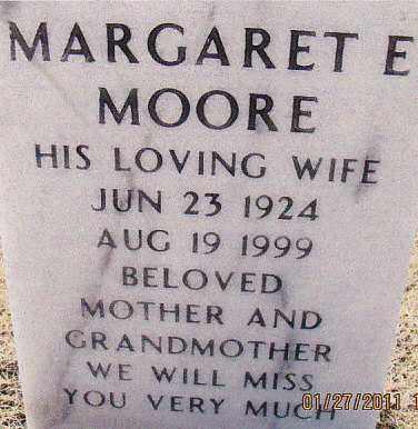 NAVE MOORE, MARGARET ELIZABETH - Muskogee County, Oklahoma   MARGARET ELIZABETH NAVE MOORE - Oklahoma Gravestone Photos