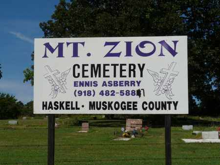 *MT. ZION, CEMETERY - Muskogee County, Oklahoma | CEMETERY *MT. ZION - Oklahoma Gravestone Photos