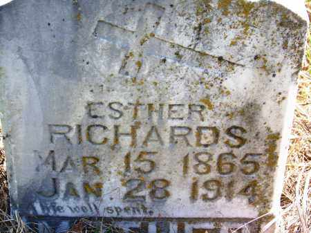 RICHARDS, ESTHER - Muskogee County, Oklahoma | ESTHER RICHARDS - Oklahoma Gravestone Photos