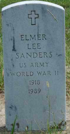 SANDERS (VETERAN WWII), ELMER LEE - Muskogee County, Oklahoma | ELMER LEE SANDERS (VETERAN WWII) - Oklahoma Gravestone Photos
