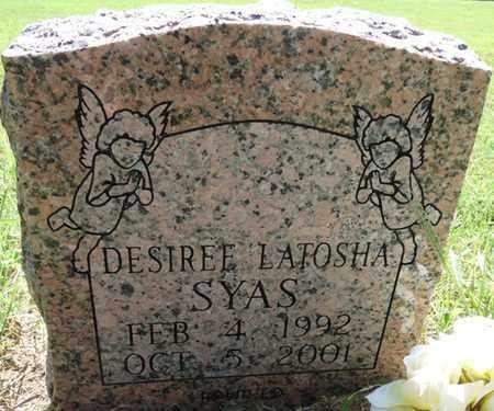 SYAS, DESIREE LATOSHA - Muskogee County, Oklahoma | DESIREE LATOSHA SYAS - Oklahoma Gravestone Photos